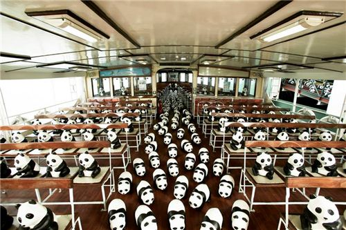 1600 Pandas inside Star Ferry