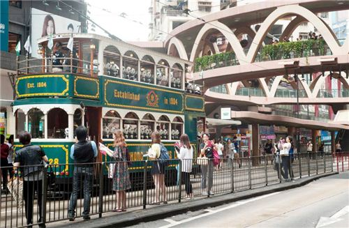 1600 Pandas taking the Hong Kong tram