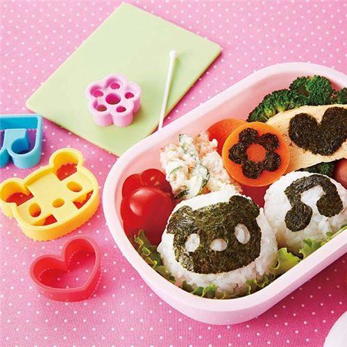 bear flower music note heart seaweed Bento food cutters