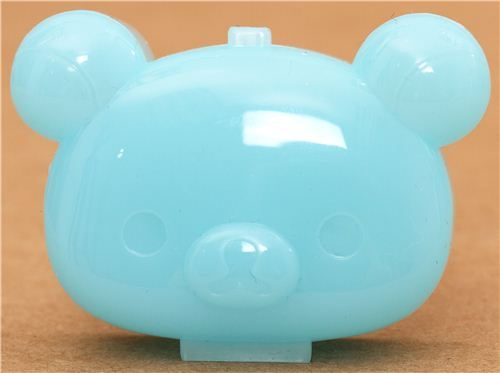 Rilakkuma bear blue mini plastic case pill box San-X