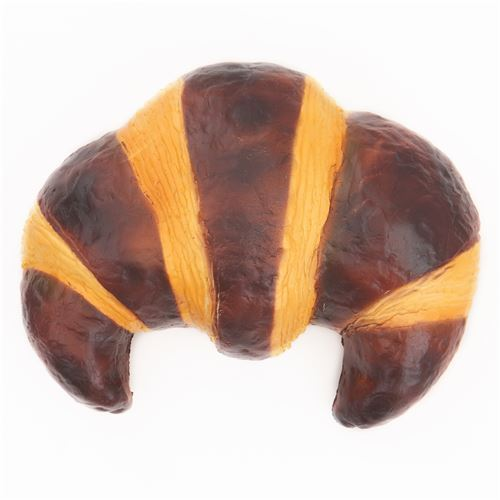 cute big dark light brown coffee croissant bread scented squishy by Puni Maru