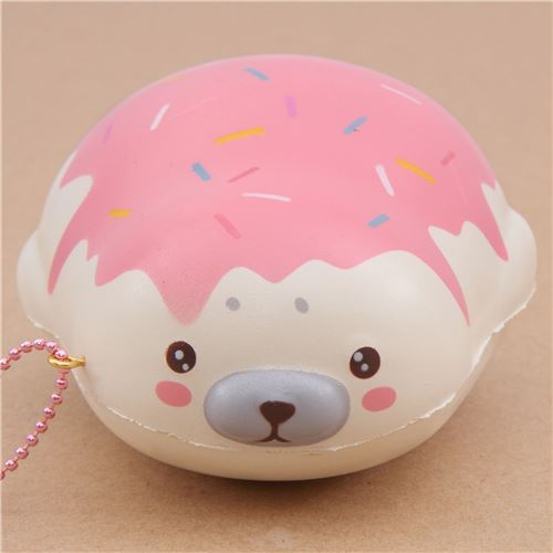 cute cream strawberry sauce mochi seal animal scented squishy by Puni Maru