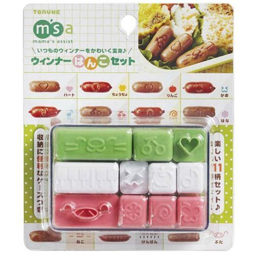 apple heart cat face bento sausage cutter sausage stamp