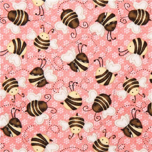cute bee fabric by Henry Glass