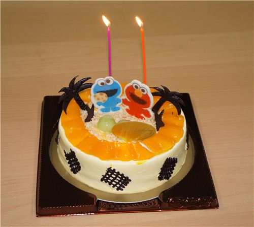 Our Delicious Sesame Street Birthday Cake