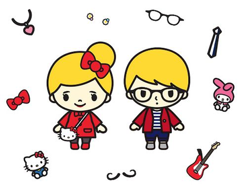 You can also choose many Sanrio accessories to accompany your avatar.
