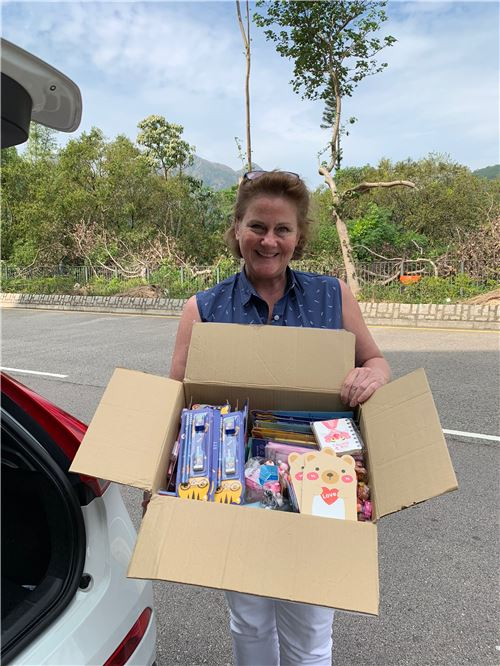 We delivered these items to Fiona, a representative of Box of Hope