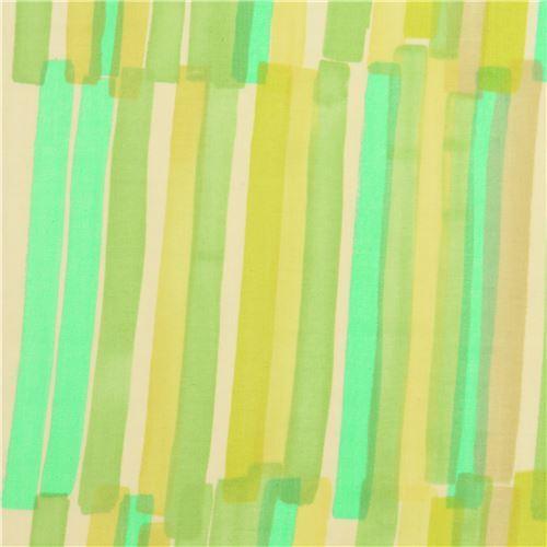 green stripe nani iro double gauze fabric by Kokka