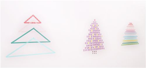 Christmas DIY: We crafted 3 types of Washi Christmas trees