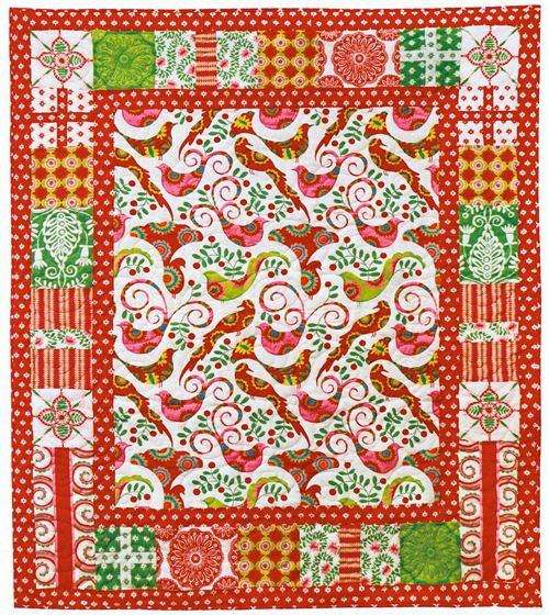 A beautiful Christmas quilt by Michael Miller