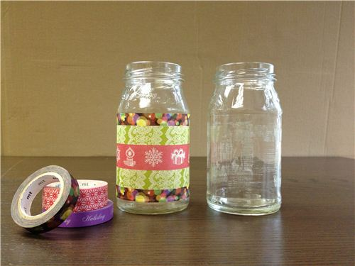 What you need: empty jars and Washi tape