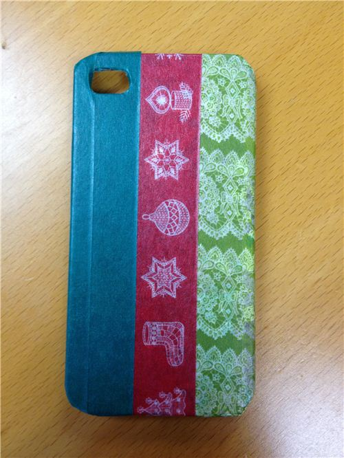 Stick Washi Tape onto your phone case