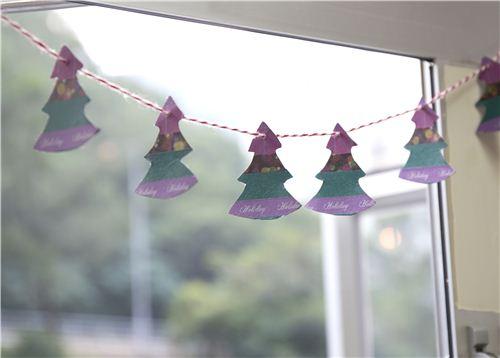 Today's Christmas craft: Washi Tape Christmas Tree Bunting