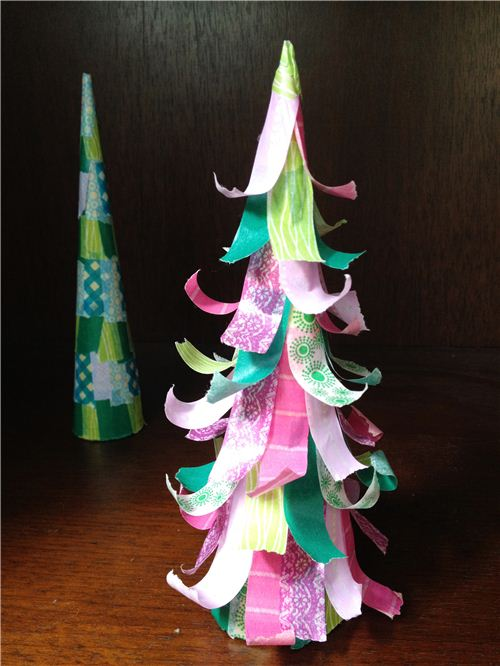 Today's Christmas craft: Washi Tape Table Christmas Tree