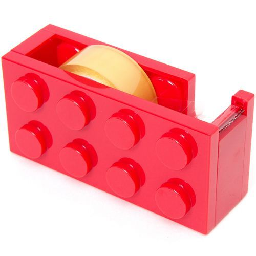 red building block adhesive tape dispenser cutter