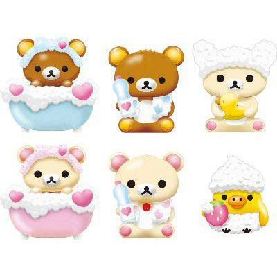 Rilakkuma bear bathing foam bath bomb salt with surprise toy