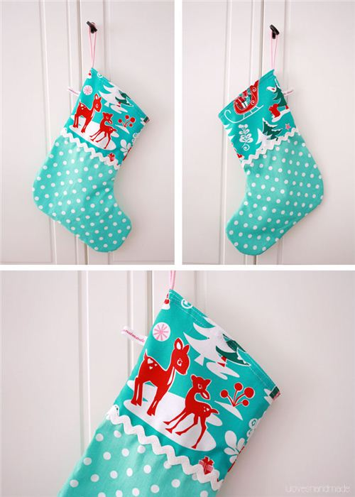 The German blog luloveshandmade made adorable Christmas stockings