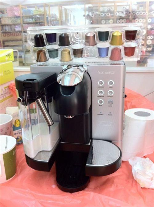 Our powerful little caffeine dispenser: A Nespresso coffee machine