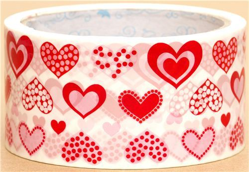 cute big Sticky Tape with hearts dots