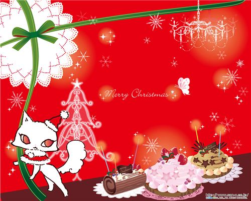 Jewel Cat Christmas wallpaper
