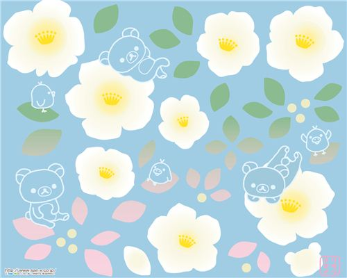 Rilakkuma flower wallpaper