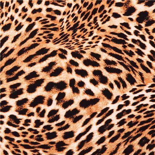 Cheetah Swirl gold animal fabric In the Tropics
