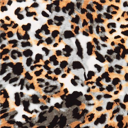 Cheetah green-brown animal fabric In the Tropics