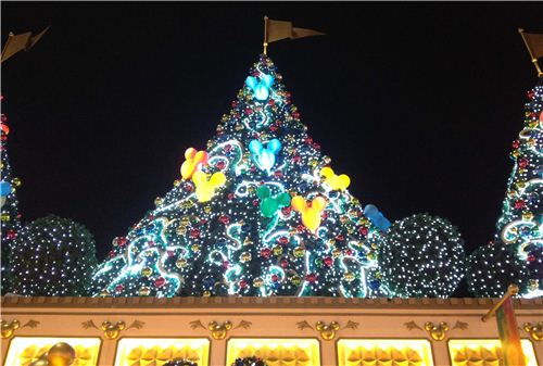 Beautiful illuminated Disney Christmas trees