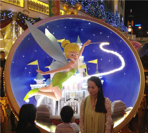 Tinkerbell and the Disney castel was one of the most popular pieces of the exhibition