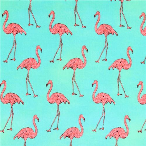 green lime green Robert Kaufman pink flamingo fabric Beach Divas