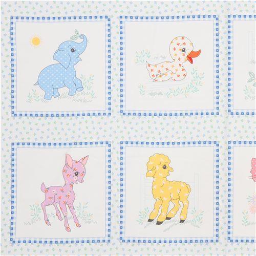 baby animal panel fabric by Robert Kaufman