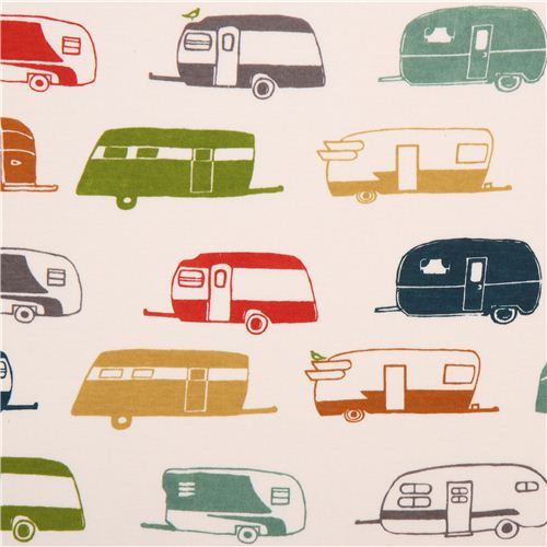 colorful campers organic knit fabric birch USA