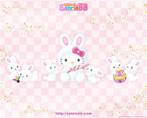 Hekko Kitty as a cute bunny