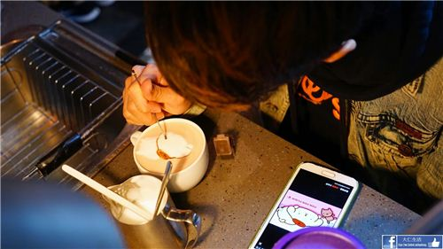 Beside the cartoon character your name is also written on the coffee , picture from U-Travel Blog