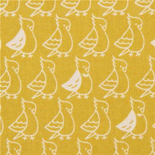 Japanese canvas fabric by Kokka with birds