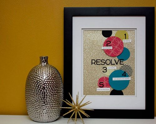 Why not display resolutions in a frame? Image courtesy of Lil Blue Boo