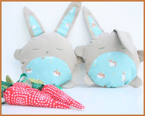 Eva-Maria from the blog byevamaria made this fun Easter project with one of our rabbit fabrics