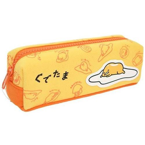 orange funny Gudetama egg yolk pencil case by Kamio from Japan