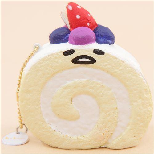 slow rising Gudetama roll cake squishy by Sanrio