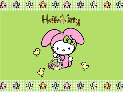 Hello Kitty loves colorful Easter eggs. How many will you find?