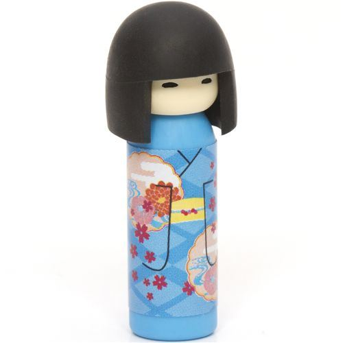 Japanese Kokeshi dolls eraser flowers from Japan
