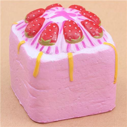 cute purple strawberry cream cake Vlampo squishy kawaii
