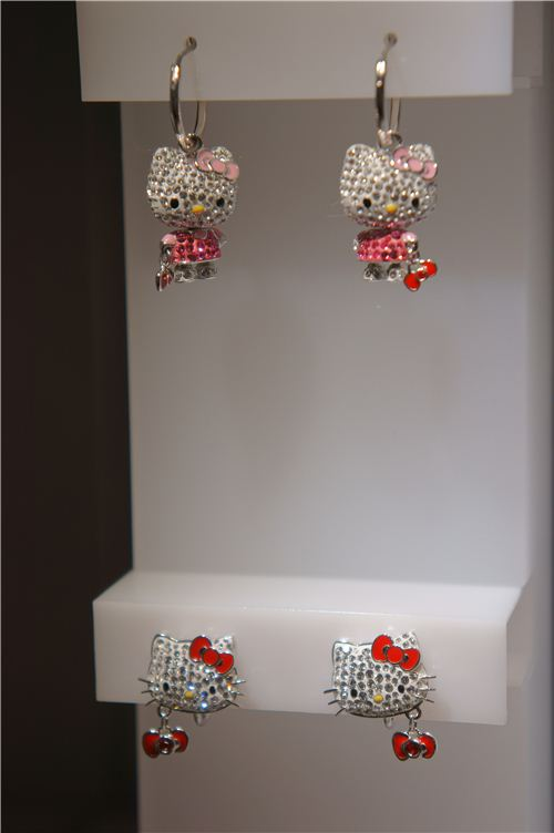 cute little Hello Kitty earrings