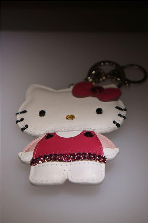 crystal and leather - a cute Hello Kitty charm
