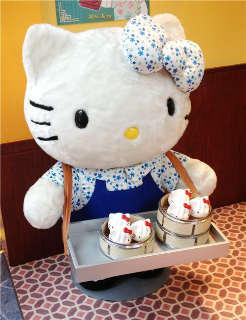 Hello Kitty selling traditional Dim Sum