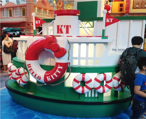 A kawaii Hello Kitty Hong Kong ferry