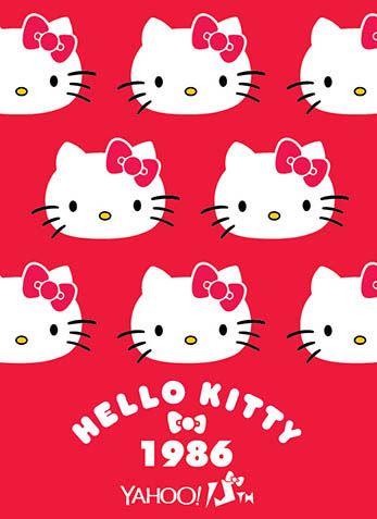 Hello Kitty x Yahoo e-cards 1986