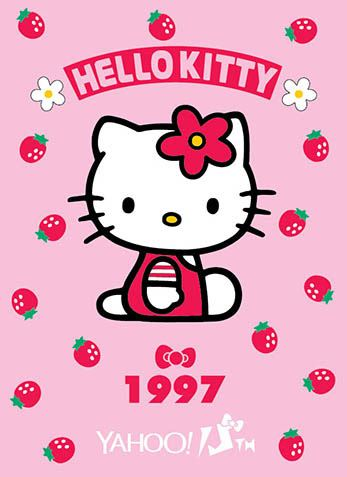 Hello Kitty x Yahoo e-cards 1997