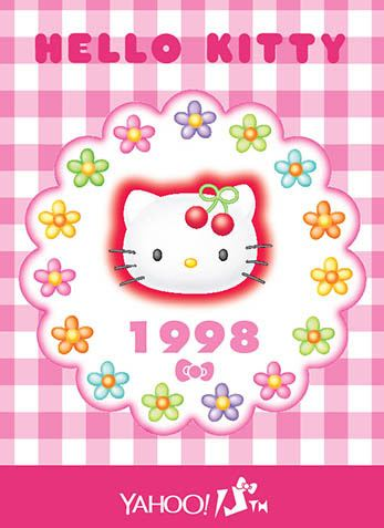 Hello Kitty x Yahoo e-cards 1998