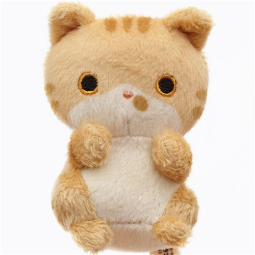 cute small light brown cat animal plush toy